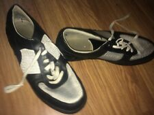 ROCKPORT XCS MENS UK SIZE 10 BLACK/SILVER LACE-UP CASUAL TRAINERS (VG COND)
