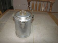Vtg 9 Cup Aluminum Camping Stove Top Percolator Coffee Pot