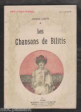 Les Chansons de Bilitis/ Pierre Louÿs. Illustré/A.Calbet. Coll Modern-Biblio1927