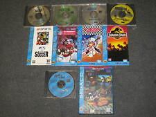 LOT OF 6 Sega CD (fifa soccer/montana football/jurassic park/sewer shark) games