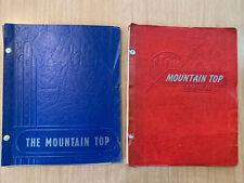 High School Year Books 1946-47, & 1948 Mountain Top PA Vtg Antique
