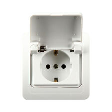 Flush Zones Humides Prise Mur Socket & Couvercle Rabattable 110-250V 16A/IP44