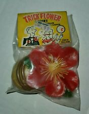 Vintage Trick Red Flower Squirt Dime Store Toy Original Package 1960's Hong Kong