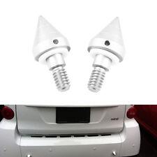 2x Car Bumper Protector Spikes Anti-Collision Silver Sharp Cone Guard For Smart