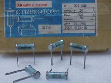 5x KBG-I --( 0.01uF 10%, 600V )-- Ceramic PIO Capacitors КБГ-И NOS Made in USSR