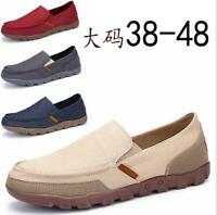 Men's Casual Canvas Loafers Shoes Moccasins Driving Cloth Shoes Leisure Slip-on