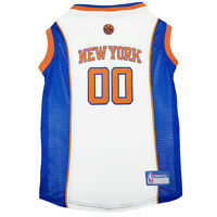 New York Knicks New NBA Officially Licensed Pets First Dog Mesh White Jersey
