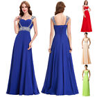Long Chiffon Evening Formal Party Ball Gown Prom Bridesmaid Dress UK Size 6-20