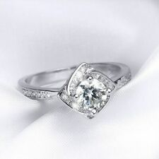 1.15ct Round Cut Diamond For Women's Engagement Wedding Ring 10k White Gold Over