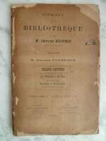 catalogue de vente BIBLIOTHEQUE Fernand BOURNON 1910
