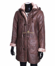 Shearling Knee Length Casual Coats & Jackets for Women