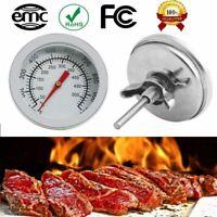 F/C Stainless Steel BBQ Smoker Pit Grill Bimetallic Thermometer Temp Gauge