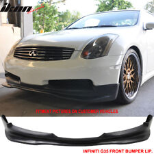Fits 03-07 Infiniti G35 Coupe 2Dr GT Style Front Bumper Lip Urethane