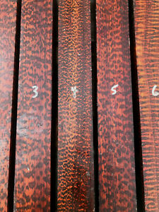 Snakewood turning blank cue splice knife scale 305 x 38mm SQ SPECIAL / GRADE A