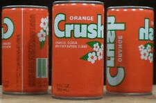 Orange Crush Soda Coin Bank Crimped Steel Can 7-UP Bottling Chicago ILL 65 x
