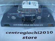 ALFA ROMEO GIULIA 1600 SUPER CARABINIERI 1970 DIE-CAST 1/43 SCALA