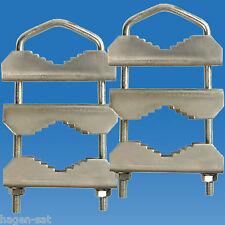 2 x Mastschelle U-Bügel Mast Doppelschelle Mast Dreifachschelle Masthalter