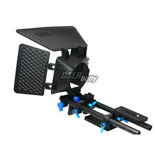 Fotga DP500 Matte Box+15mm Standard Rail Rod Support Kit for Canon 5DII 600D 60D