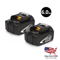2x Makita 18V 6.0AH BL1860 Replacement  Battery Lithium For Makita BL1850 BL1840