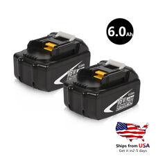2x 18V 6.0AH Makita Lithium ion Battery For Makita BL1860 BL1830  US Stock