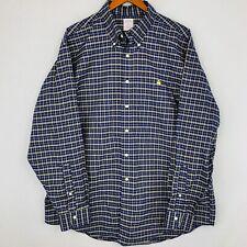 "Mens, Brooks Brothers, ""346"" Button-Down Blue Plaid Shirt-Size XL"