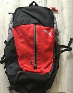 Puma Apex Backpack 07510606 Red Grey Black 23L New With Tags