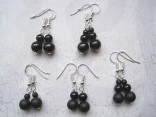 Silver Plated Onyx Fine Earrings