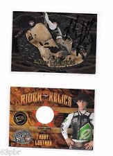 PBR  Kody Lostroh Auto/Signed Lot: Belt Buckle Card & Event-Worn Shirt Card