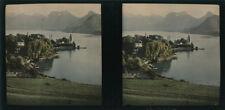 Autochrome Stéréo Savoie Lac d'Annecy 1924