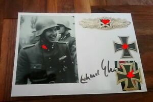 Autogrammkarte Erhard Gührs. Bild mit Orginal Unterschrift Wk2 Veteran