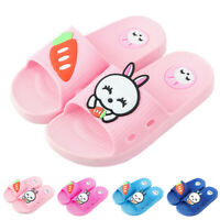 Children Baby Kids Girls Boys Home Slippers Cartoon Rabbit Floor Shoes Sandals