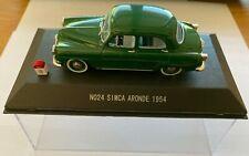 SIMCA ARONDE 1954 - GREEN - NOSTALGIE 1/43 SCALE - N0 24