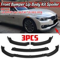 3PCs Matte Front Bumper Lip Spoiler Splitter For BMW F30 F35 3 Series