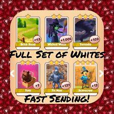 Coin Master Full Oz Set (All 7 Whites) Toto .. Scarecrow .. Etc (FastDelivery)