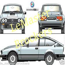 ALFA ROMEO Alfetta GTV 6 2.5 L (GTV6) Poster voiture auto yougtimer