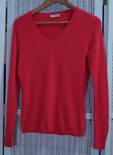"""INSIEME Women's Cashmere Jumper S 34"""" Bust Hot Pink Coral Pullover Sweater"""