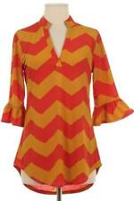 CHEVRON PRINT BOUTIQUE BELL SLEEVE TUNIC IN MEDIUM -MORE SIZES AVAILABLE