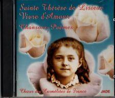 SAINTE THERESE DE LISIEUX VIVRE D AMOUR CHOEUR DES CARMELITES DE FRANCE CD