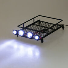 1:10 Roof Luggage Rack w/ LED Light For RC AXIAL SCX10 CC01 Crawler Car Black