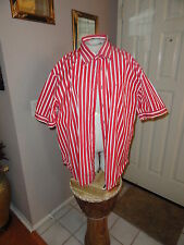 Tommy Hilfiger Red White Stripes Shirt w/chest pocket. Size Xlarge.