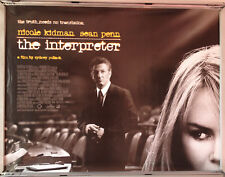 Cinema Poster: INTERPRETER, THE 2005 (Quad) Nicole Kidman Sean Penn