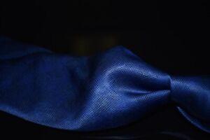 Lanvin Paris Made in France Gloss Satin Royal Blue Self Floral Tropical Silk Tie
