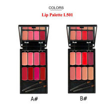 Cosmetic Lip Makeup Palette Kit Lipstick Cream Mirror -8 Shades KEEP LIPS FULLER