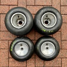 Set Of Gokart Wheels And Tyres Front And Rear 4x Wheels