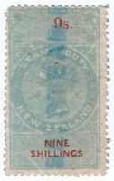 (I.B) New Zealand Revenue : Stamp Duty 9/- (1867) inverted watermark