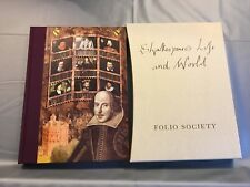 FOLIO SOCIETY EDITION SHAKESPEARE'S LIFE AND WORLD 2004 NEW BOOK WITH SLIPCASE