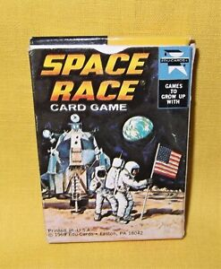 VINTAGE 1969 SPACE RACE MOON LANDING CARD GAME EXCELLENT NEW CONDITION