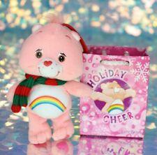 Care Bears HOLIDAY CHEER BEAR Christmas Ornament Shopping Bag Scarf Plush BO025