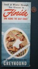 1939 Greyhound Bus Lines Tour to Florida Gulf Coast brochure with Route Map too!