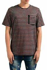 Just Cavalli Homme Laine Rayé Ras Du Cou T-Shirt US M It